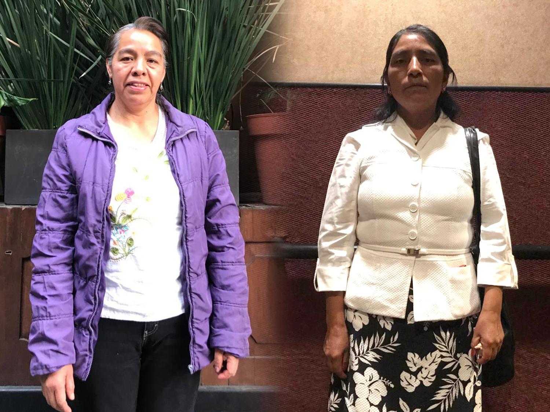 Adela Gonzalez Gonzalez and Brigida Barrios Bautista