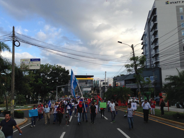 A protest in San Pedro Sula, Honduras