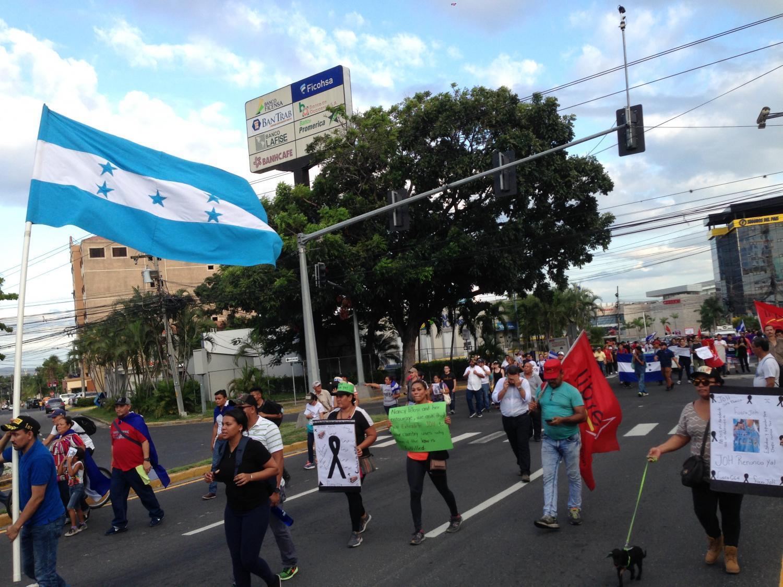 protest in San Pedro Sula, Honduras