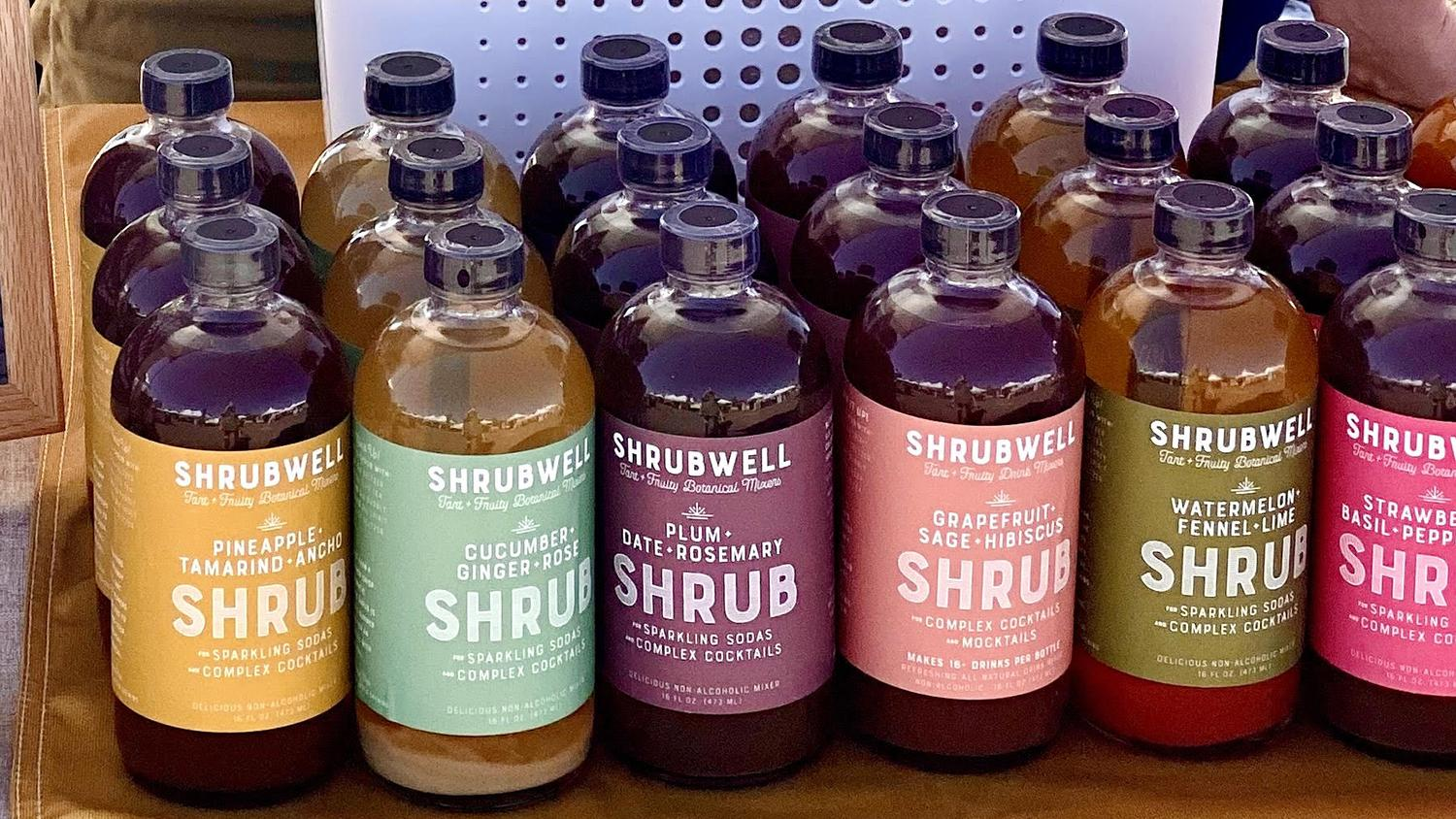 Shrubwell makes old-fashioned mixers for cocktails or mocktails