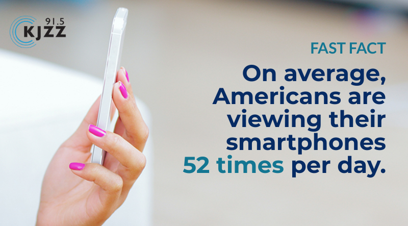 On average,  Americans are viewing their smartphones  52 times per day.