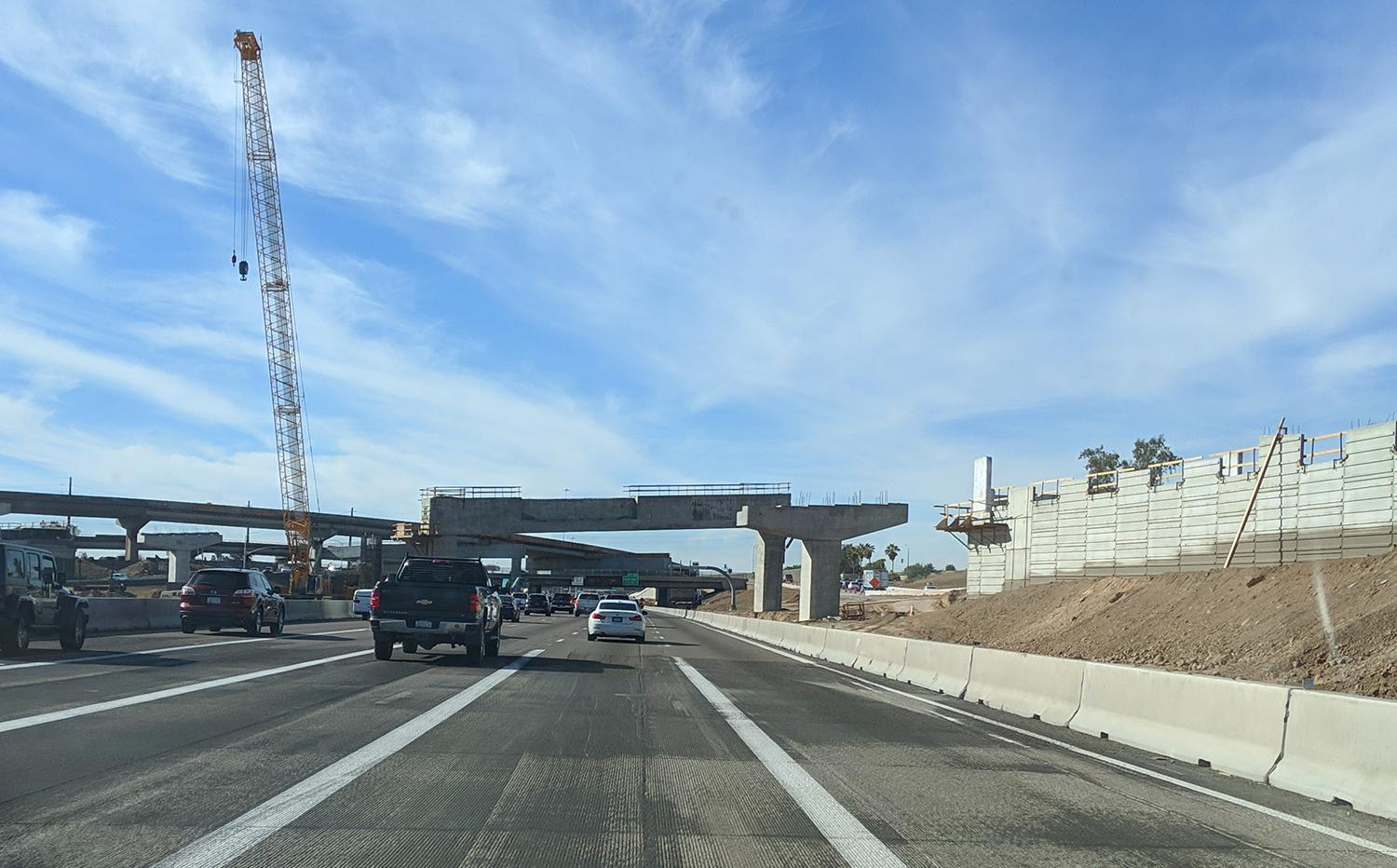 South Mountain Freeway construction