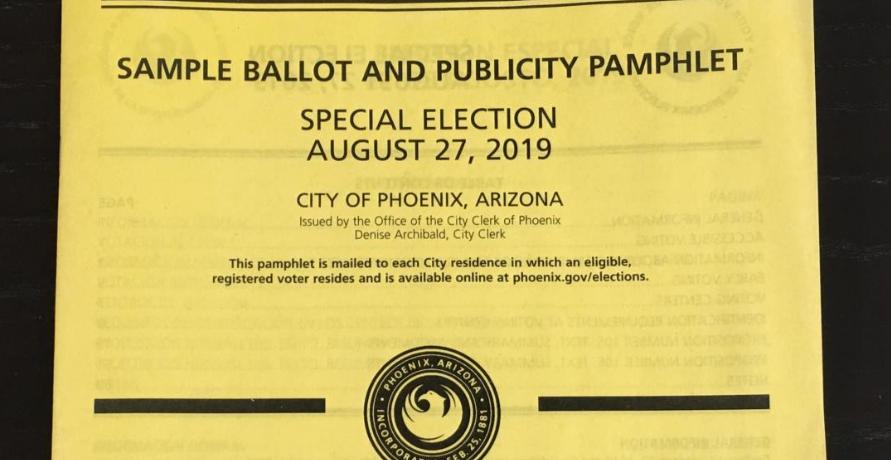 Phoenix election pamphlet