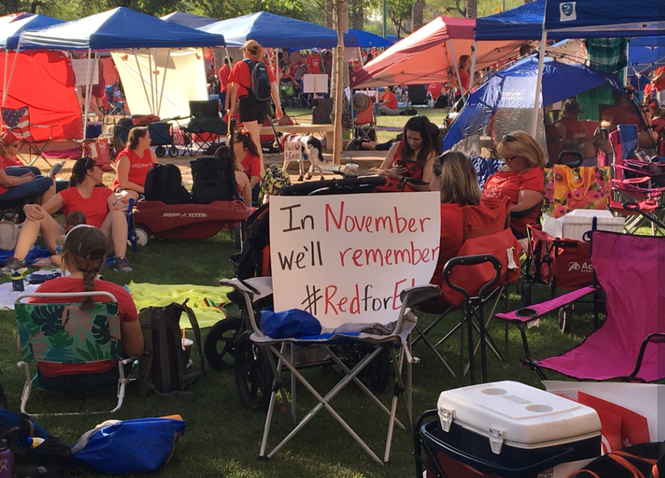 #RedForEd supporters at the capitol