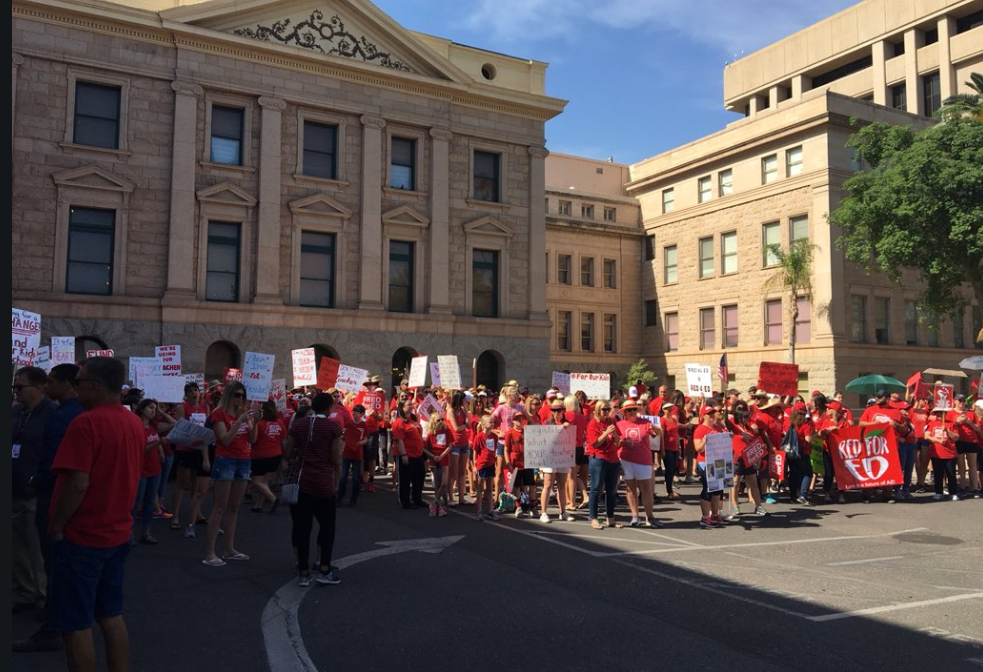#RedForEd supporters