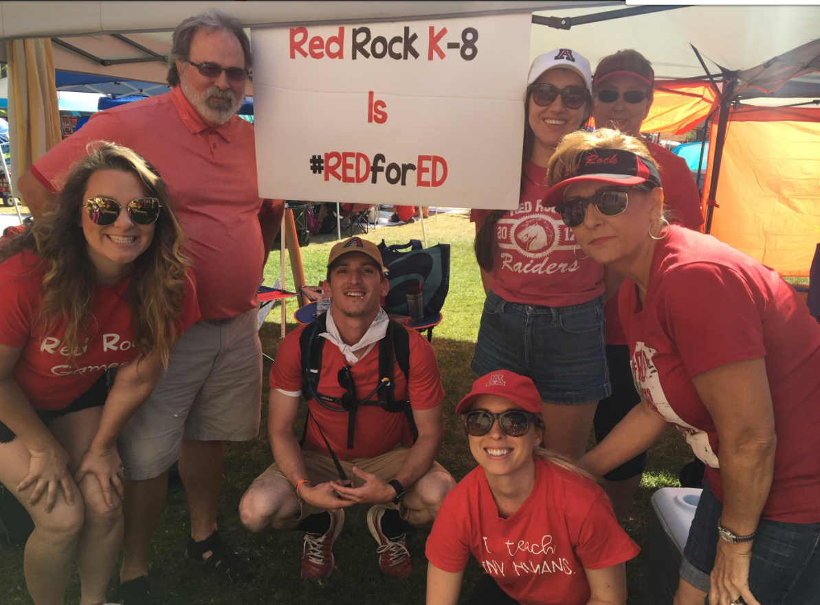 Educators from Red Rock in Pinal County
