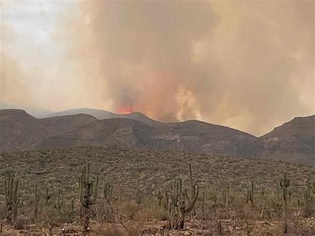 Telegraph Fire was active in the Troy Mountain area