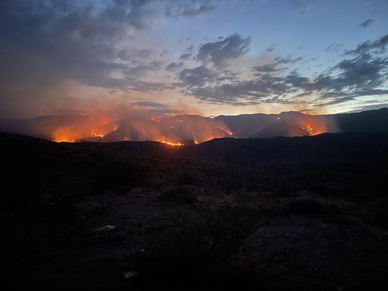 The Tiger Fire in central Arizona