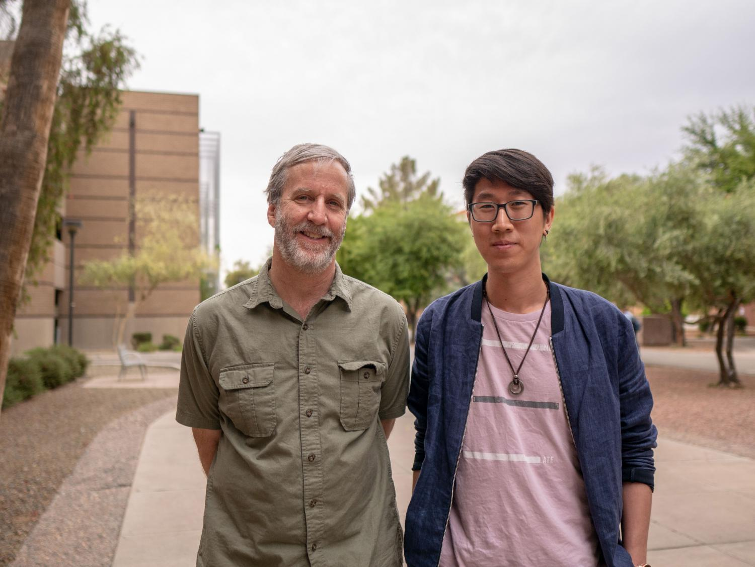 Ty Tang, an ASU psychology graduate student and first author on the study and graduate advisor, Michael McBeath, professor of psychology.
