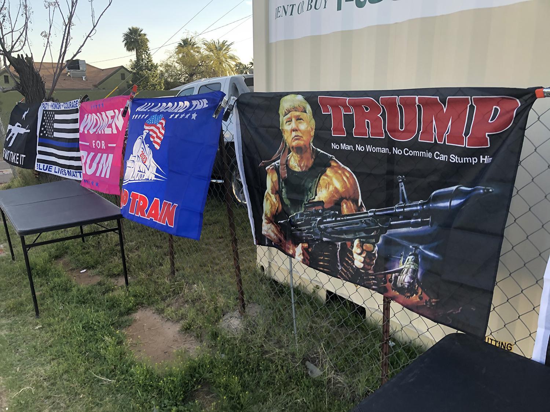 Rambo Trump sign