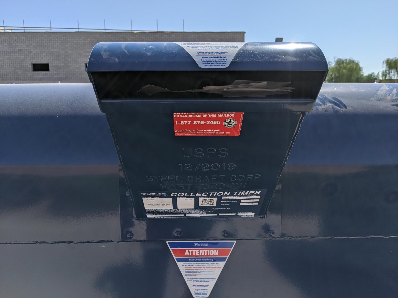 A U.S. Post Service box