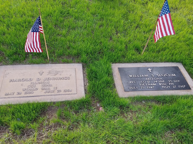 veteran grave markers from the Vietnam war