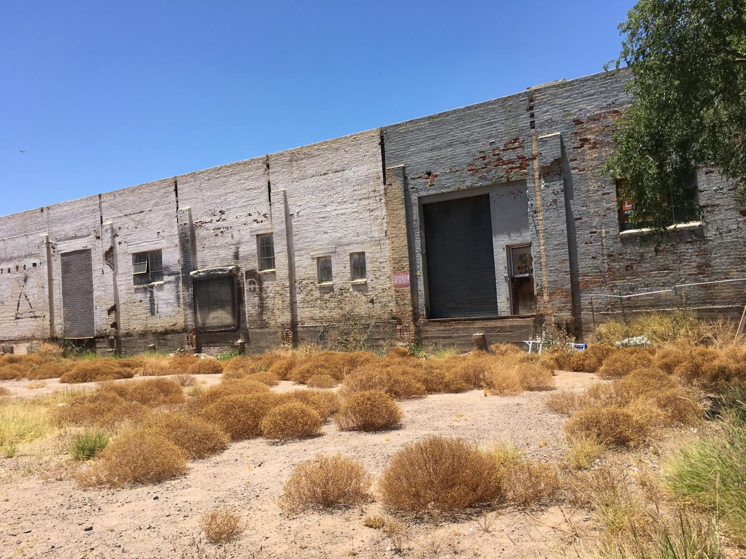 empty lots next to former warehouse