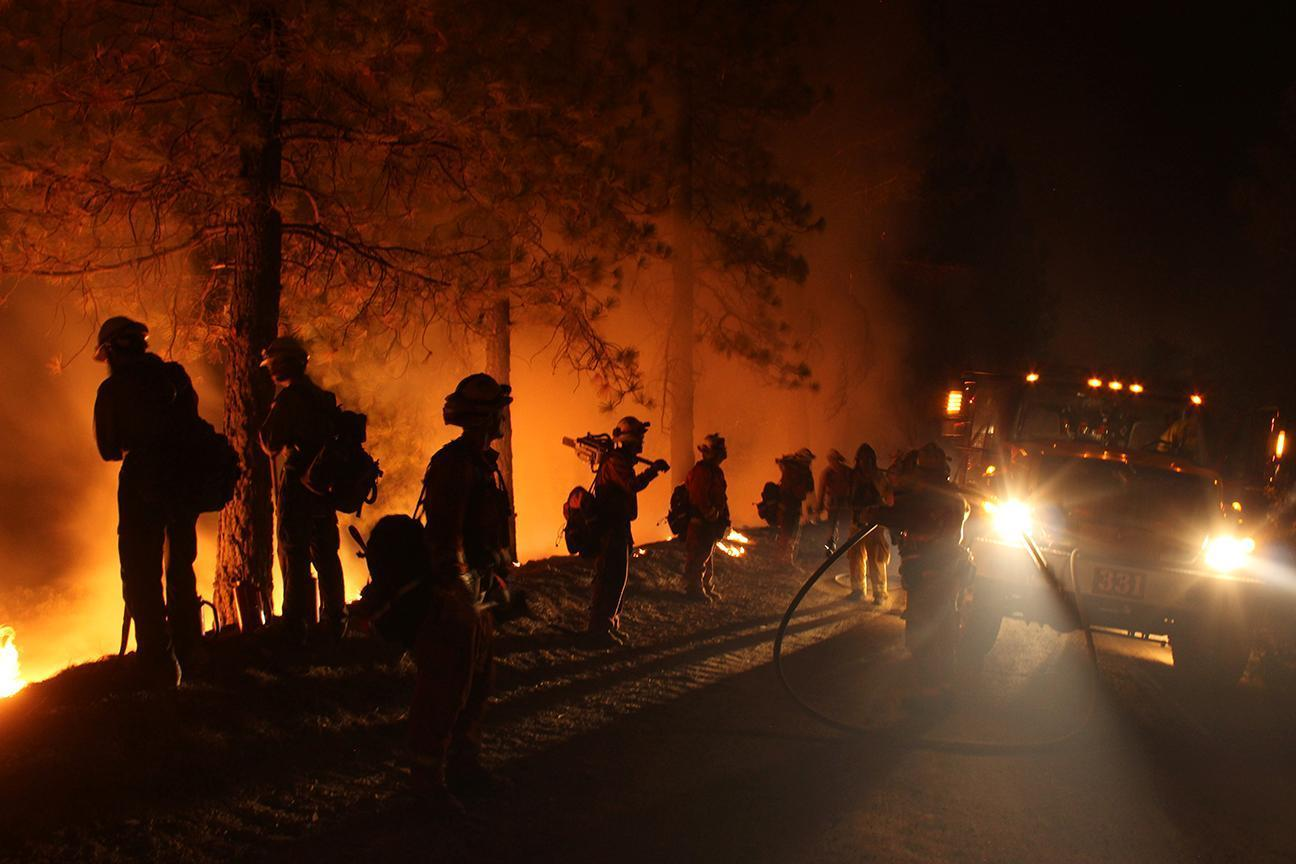 Firefighters at the Mendocino Complex Fire