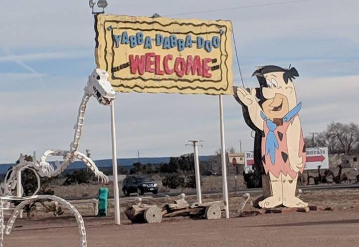 entrance to Flintstones Bedrock City