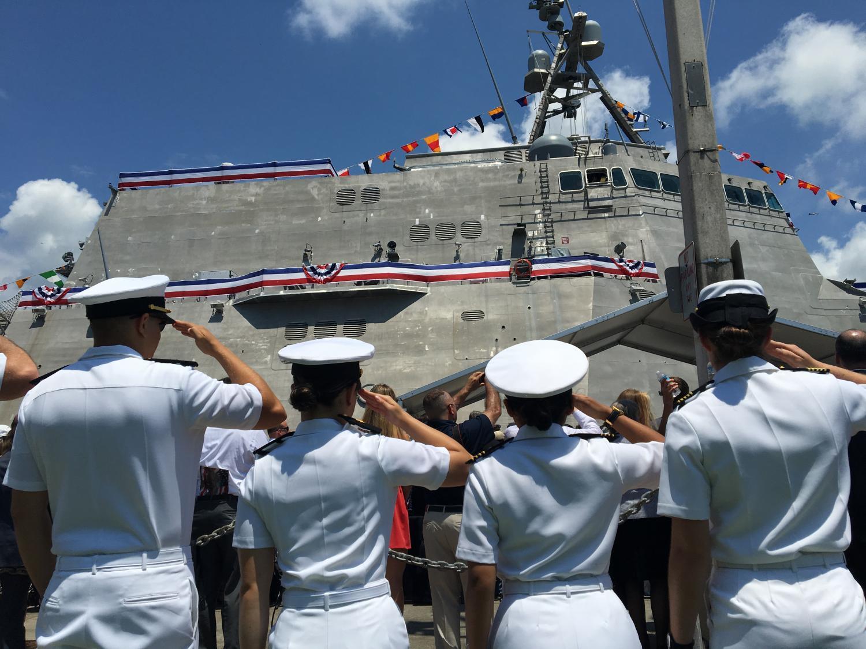 sailors salute