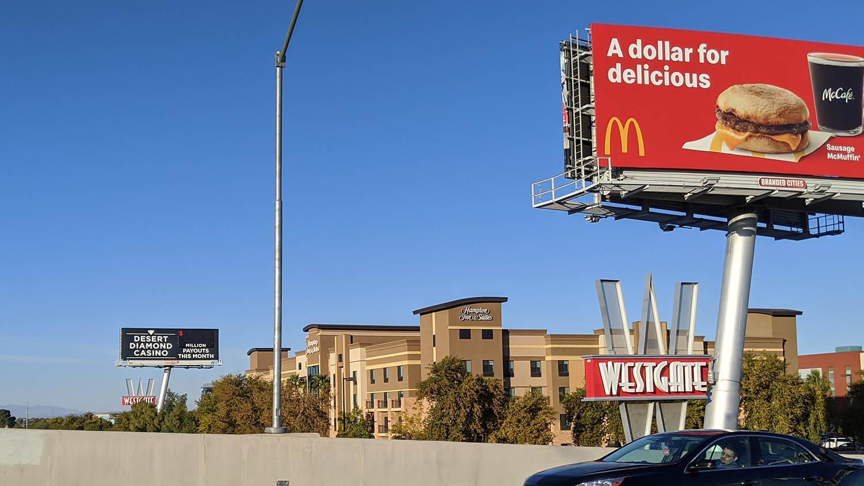 Billboards on Loop 101 in Glendale.