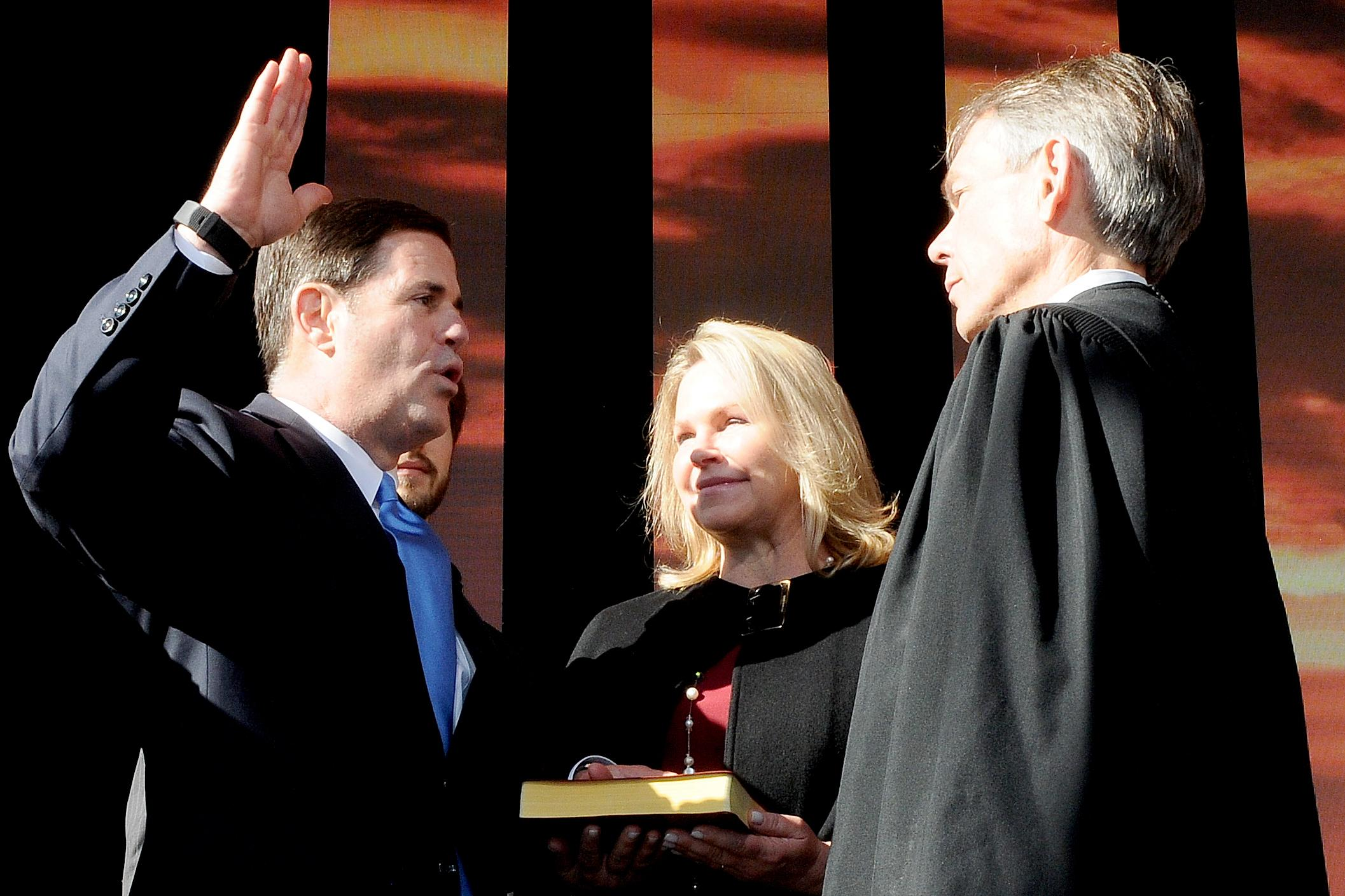 governor ducey being sworn in on inauguration day