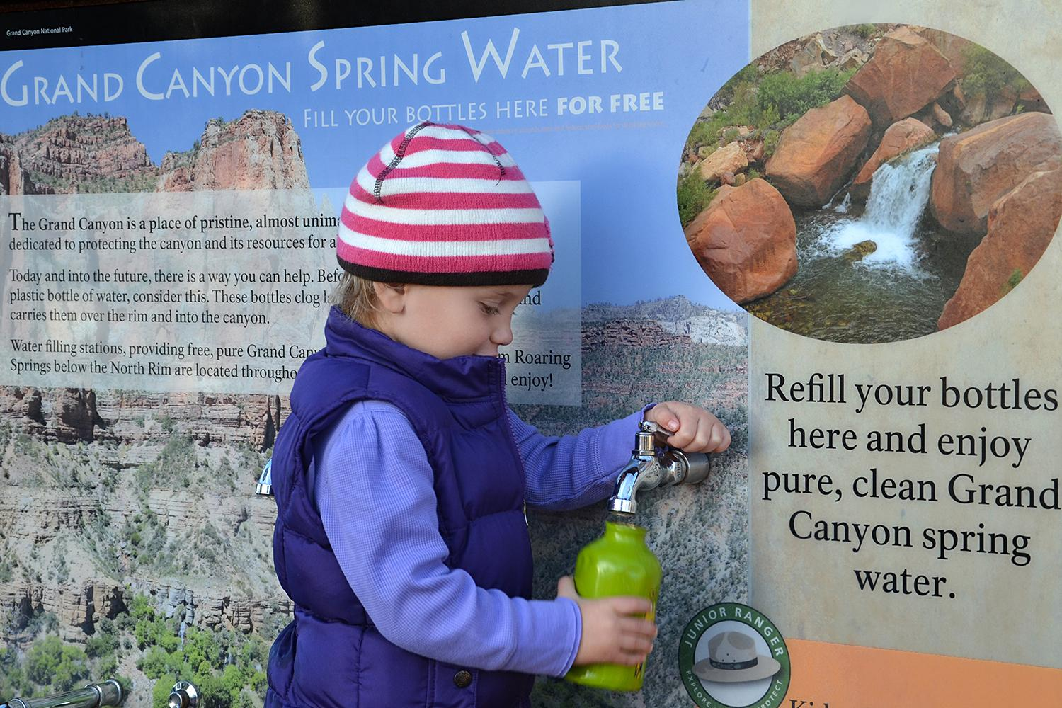 Grand Canyon spring water