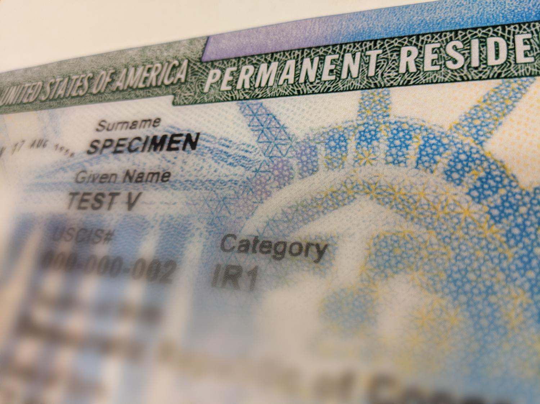 green card sample