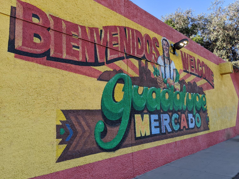 A mural at Mercado de Guadalupe