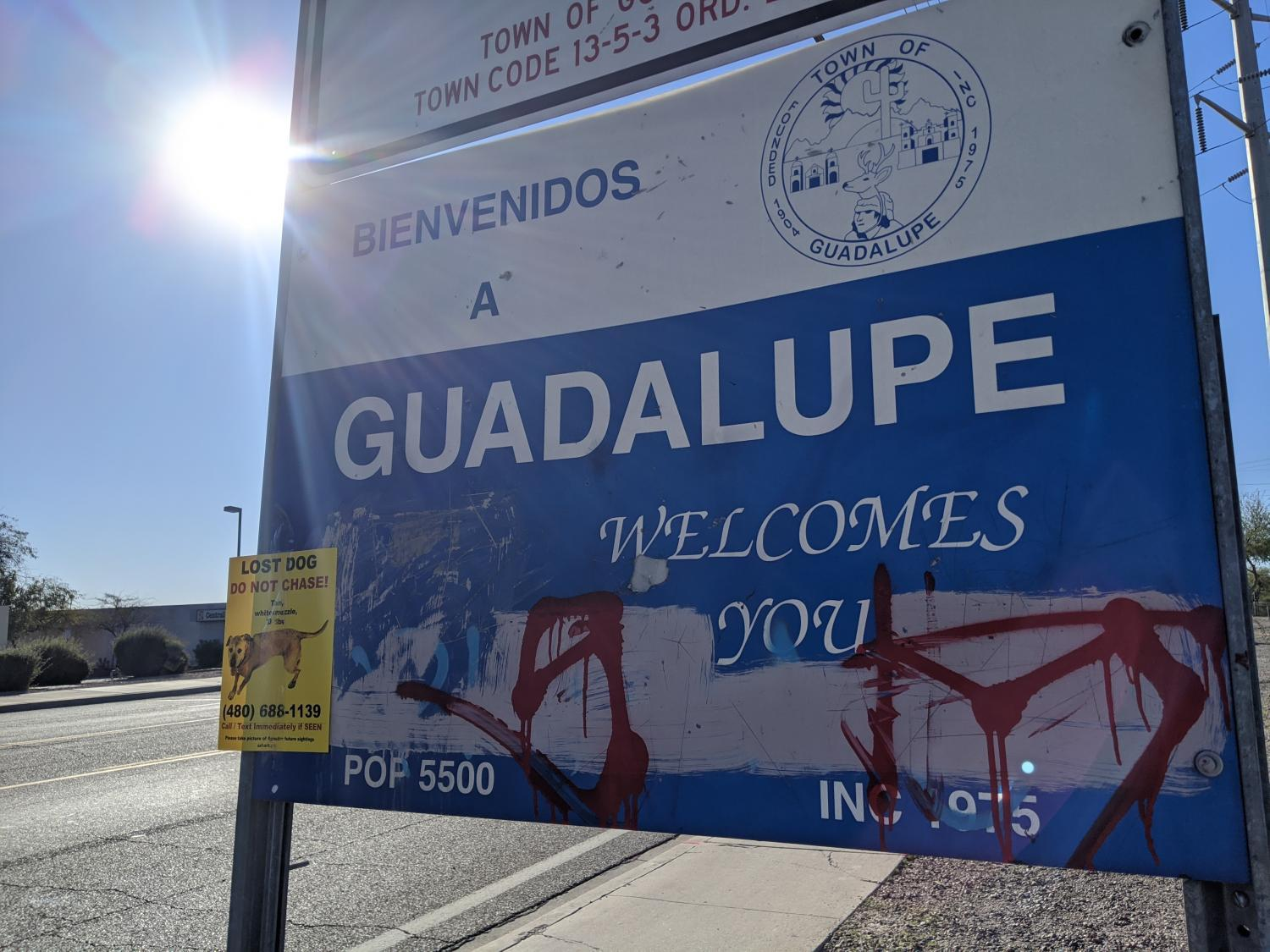 Guadalupe, Arizona sign