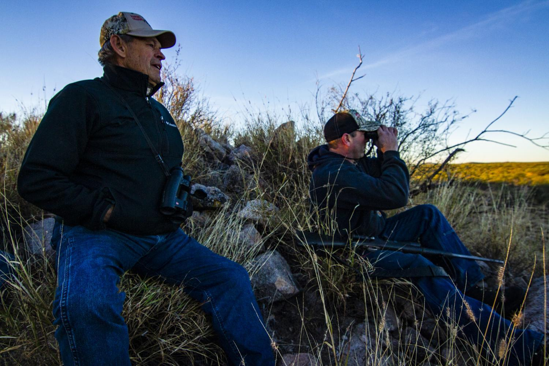 Outfitter Jim Schaafsma and hunter Brandon Barnwell
