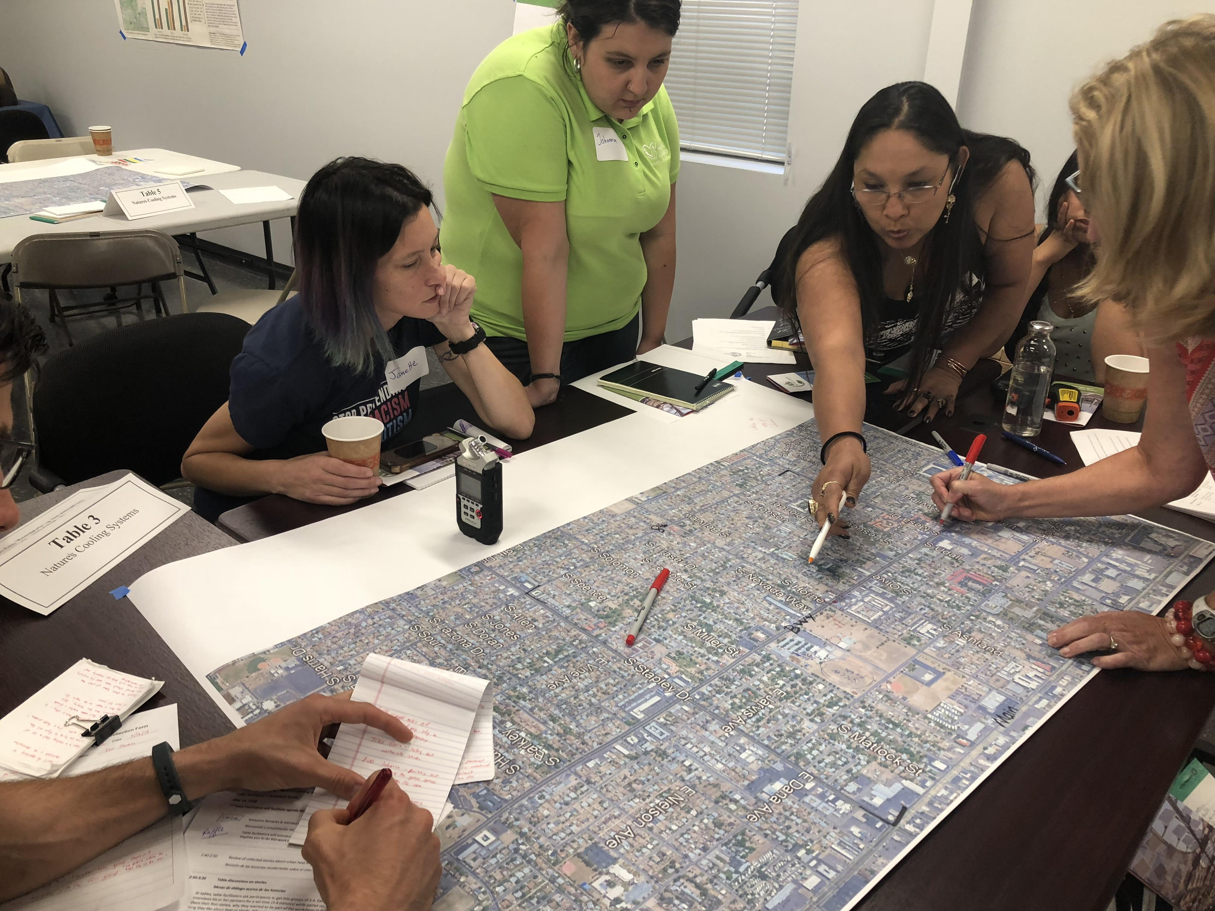 residents map out the heat footprint