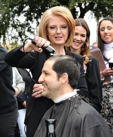 Heather Carter Paul Boyer shave head