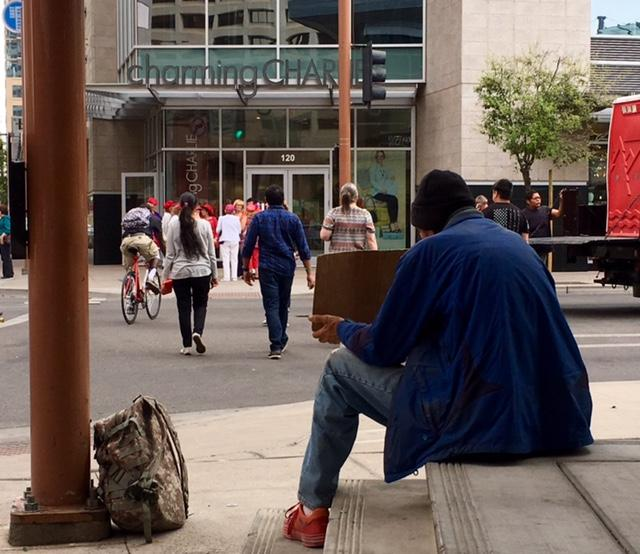 Homeless panhandler poverty