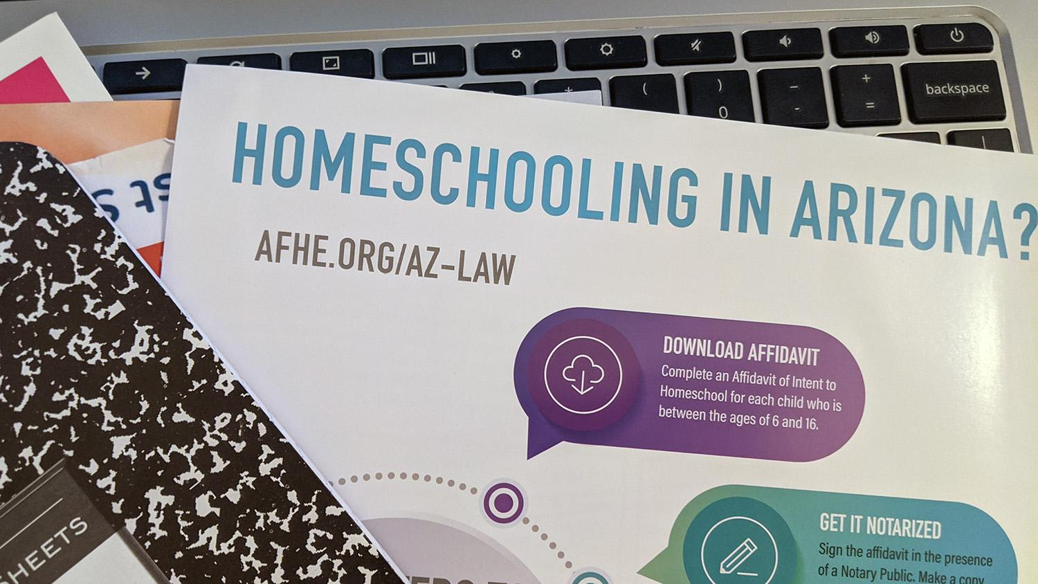 A flyer with information about homeschooling