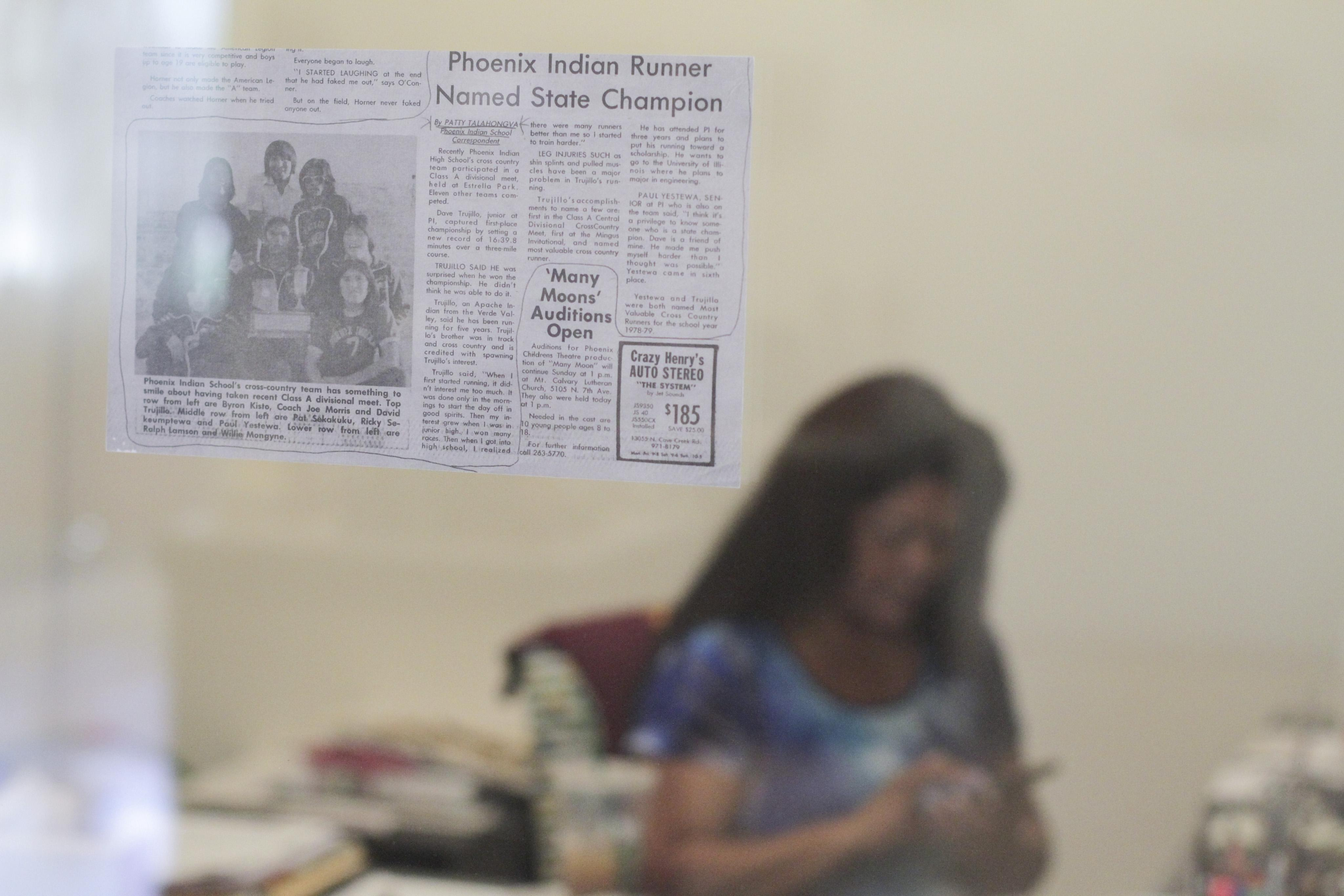 Patty Talahongva Phoenix Gazette article