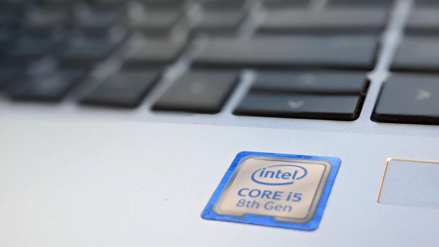 A laptop with an Intel processor.