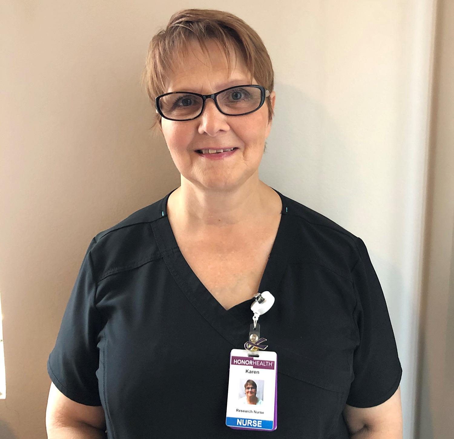 Registered nurse Karen Walsh