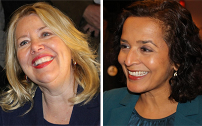 Debbie Lesko (left) and  Hiral Tipirneni