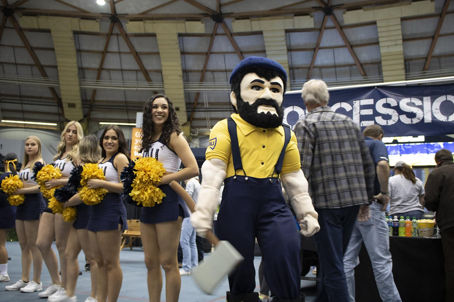 Louie the Lumberjack NAU basketball