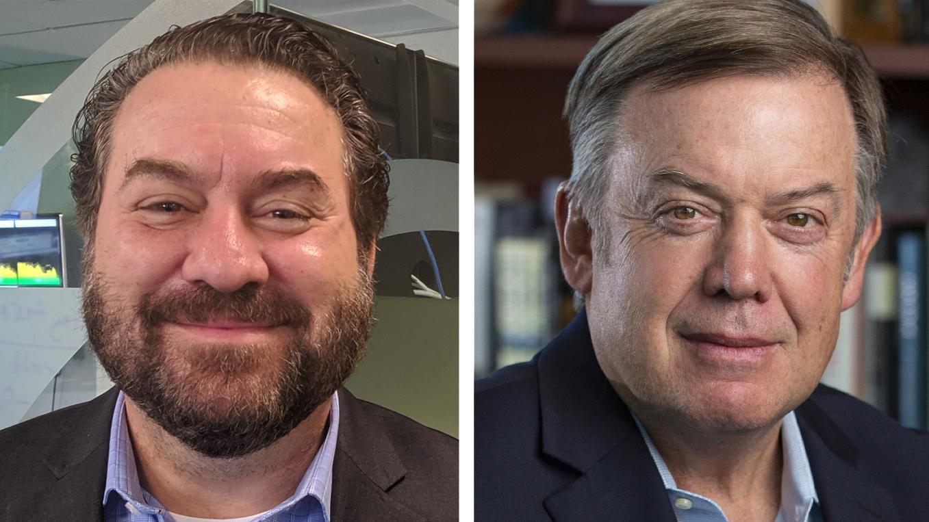 Mark Brnovich (left) and Michael Crow