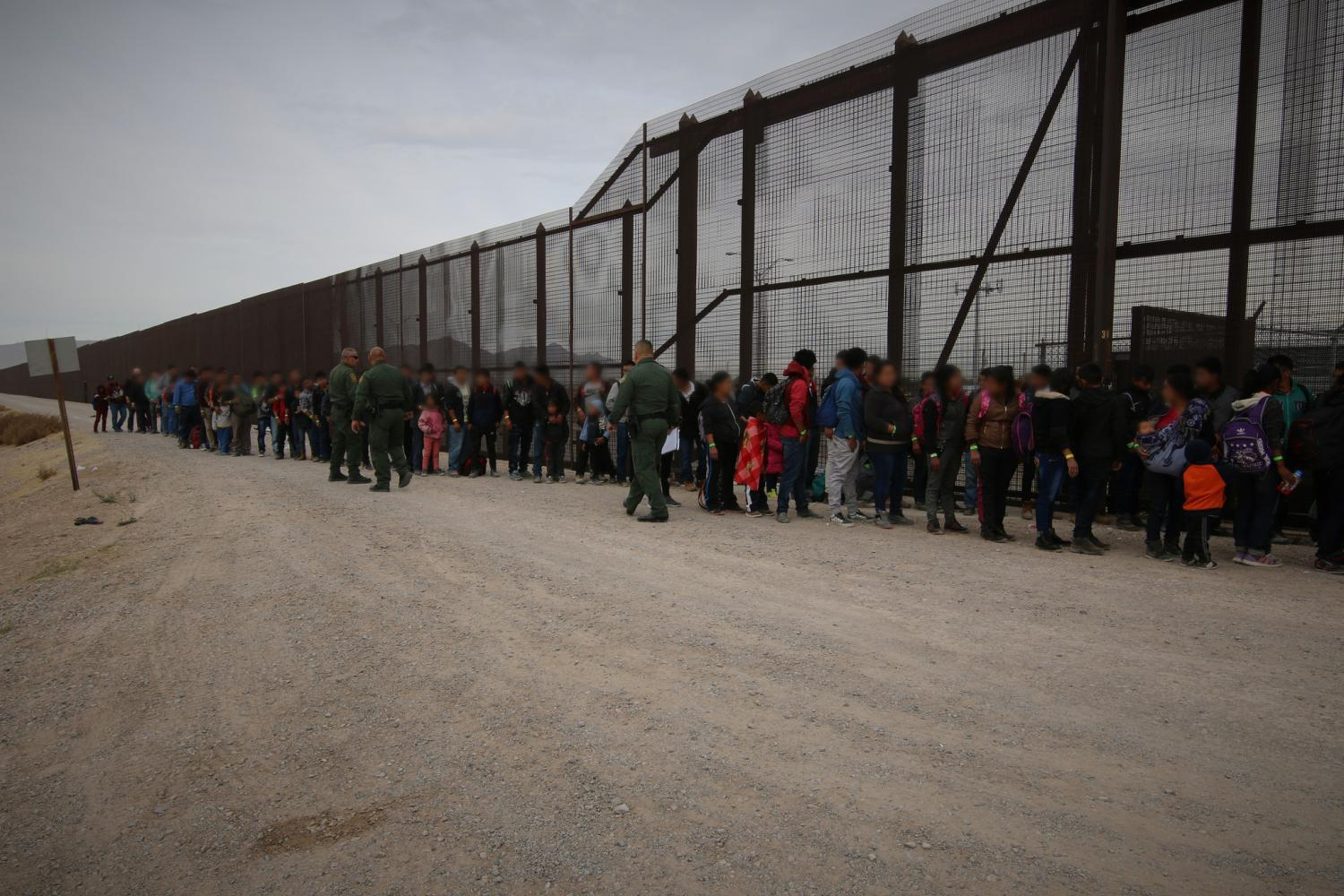 migrants detained at the border