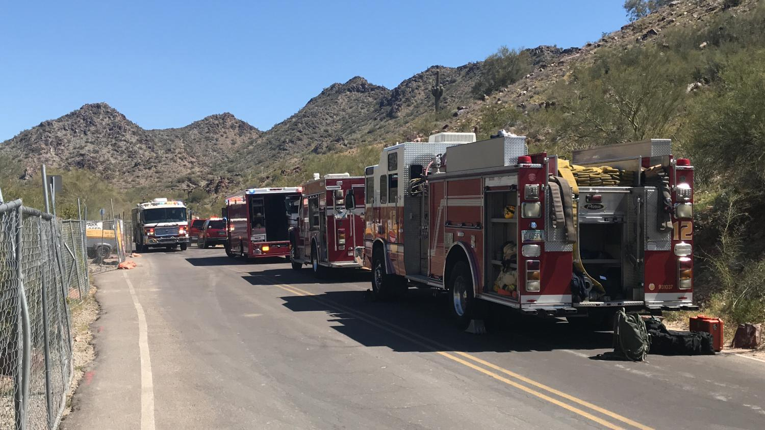Phoenix Fire Technical Rescue Teams during a hiker rescue