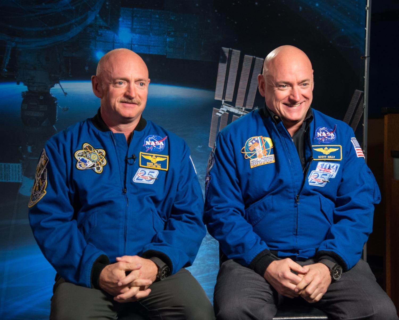 Scott and Mark Kelly,