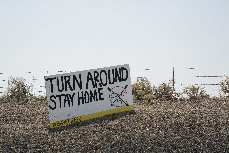 Navajo Nation COVID sign