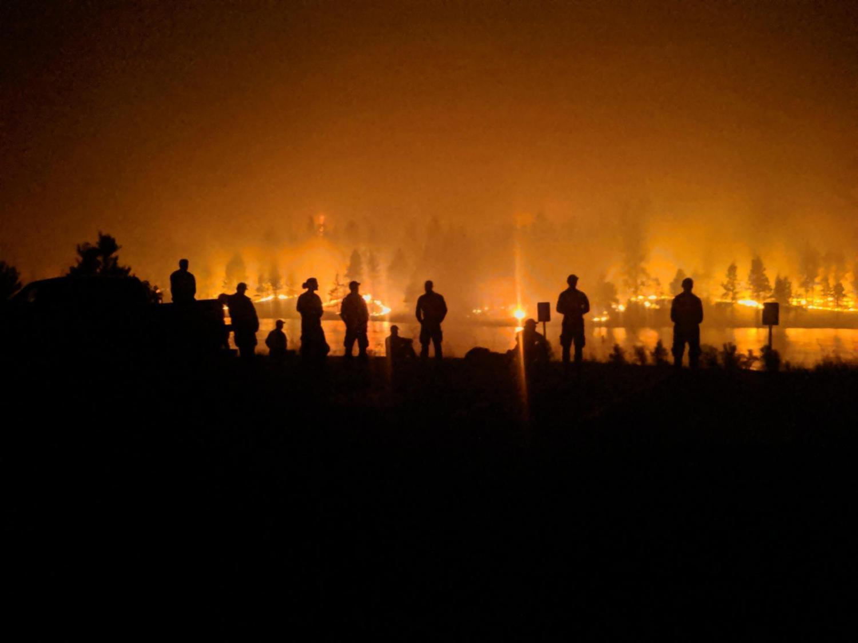 Blue Ridge Hotshots monitor fire effects
