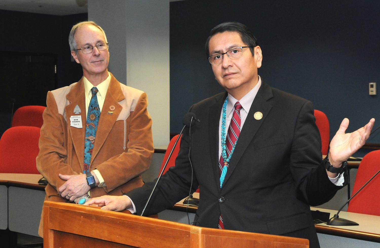 Navajo Nation President Jonathan Nez Rep. Bob Thorpe