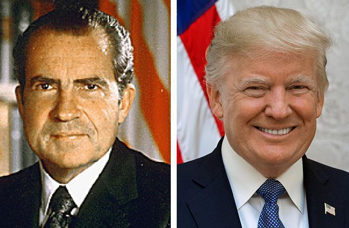 President Richard Nixon and President Donald Trump