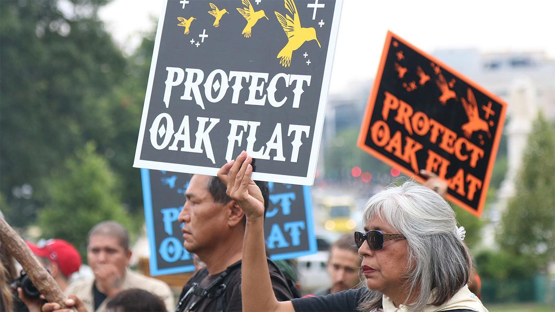 San Carlos Apache Oak Flat mine protest