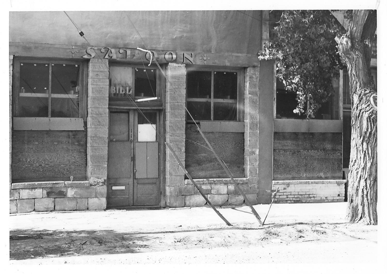 An older photo of the Bucket of Blood saloon. Date unknown.