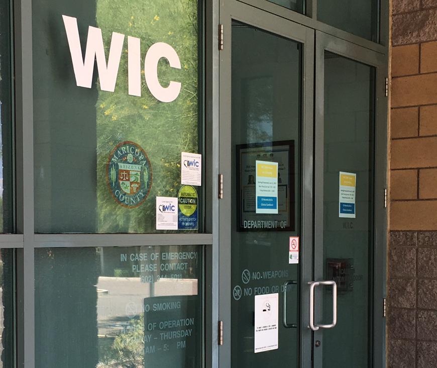 Outside the Avondale WIC office