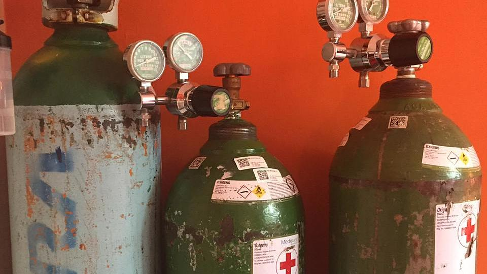 Oxygen tanks to treat COVID-19 in Mexico