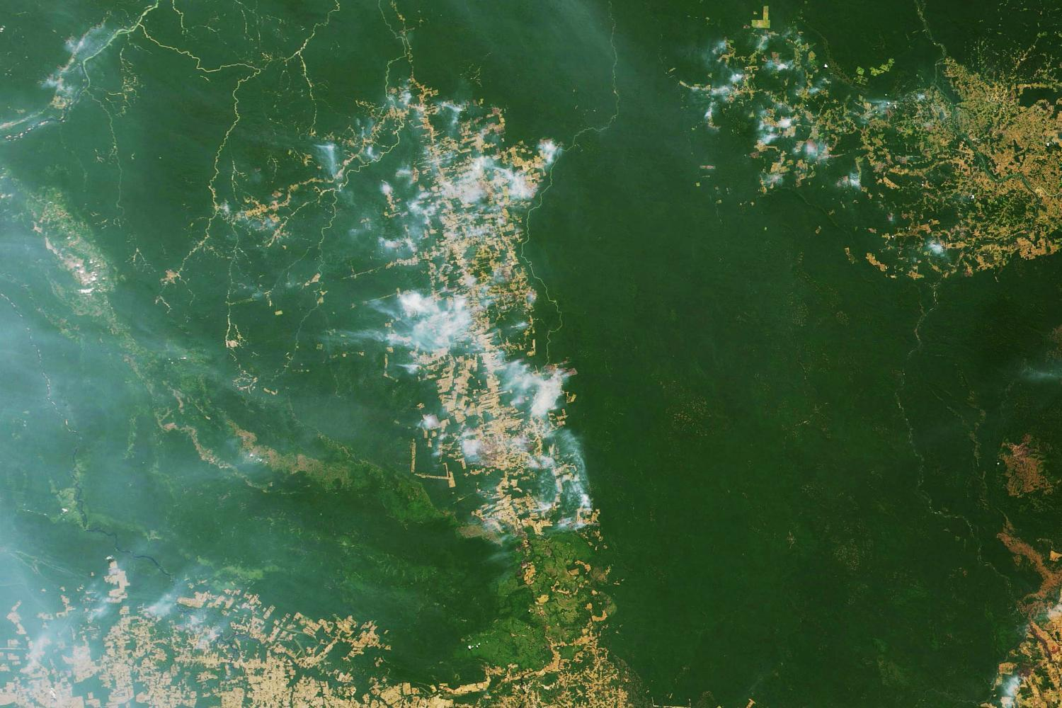 nasa image of amazon burning