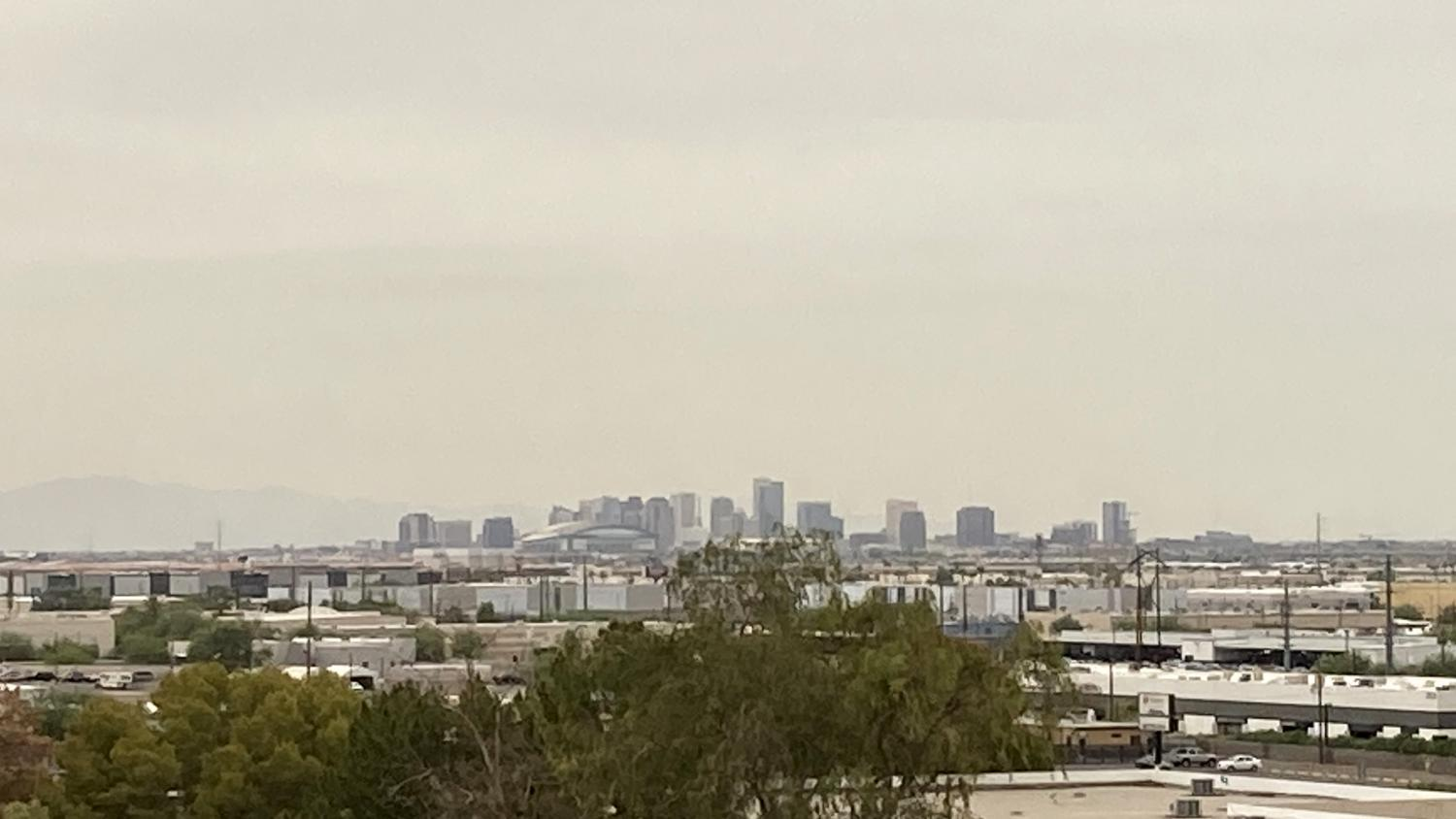The view of downtown Phoenix